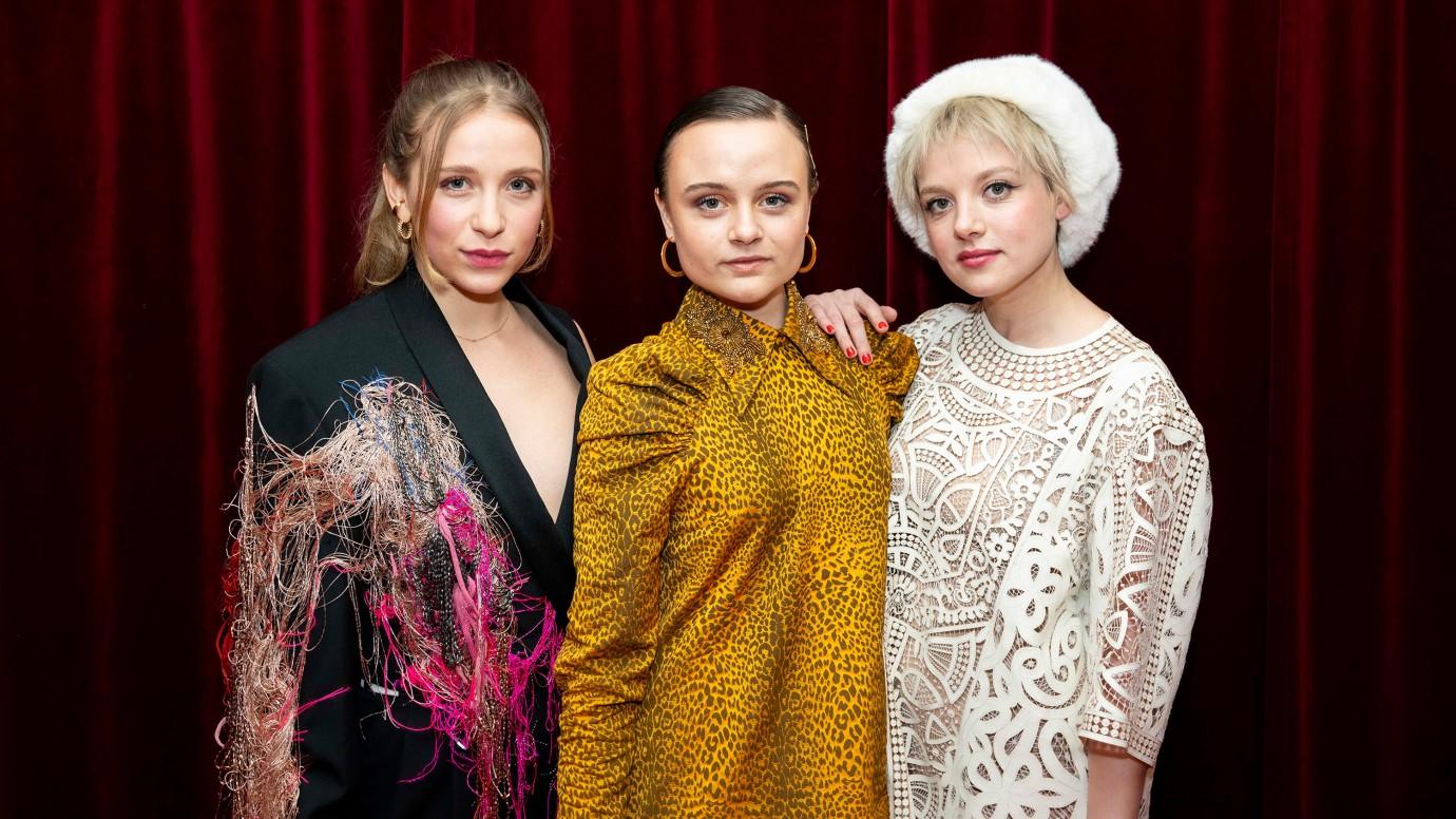 Kokon Hauptdarstellerinnen bei der Berlinale 2020: Lena Klenke, Lena Urzendowsky und Jella Hase.