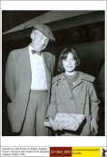 John Huston & his daughter Anjelica Huston.