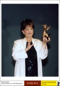 Jeanne Moreau with Golden Bear award