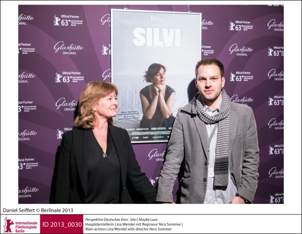 Lina Wendel, Nico Sommer   Perspektive Deutsches Kino | Impressions  Silvi (Maybe Love): main actress Lina Wendel with director Nico Sommer.  ID 2013_0030