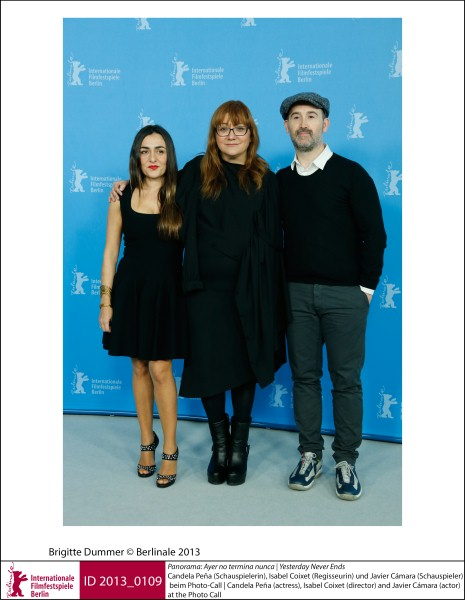 Candela Peña, Isabel Coixet, Javier Cámara   Panorama | Impressions  Ayer no termina nunca (Yesterday Never Ends): the actress, the director and the actor at the Photo Call.  ID 2013_0109