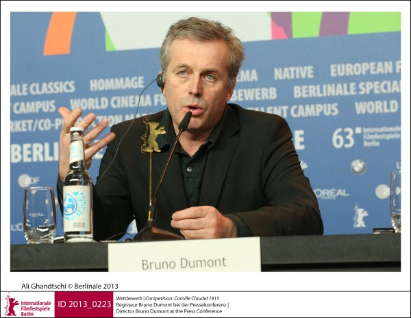 Bruno Dumont    Competition |  Camille Claudel 1915   Director Bruno Dumont at the Press Conference.  ID 2013_0223