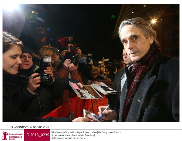 Jeremy Irons   Competition |  Night Train to Lisbon | Nachtzug nach Lissabon   Actor Jeremy Irons at the premiere.  ID 2013_0239