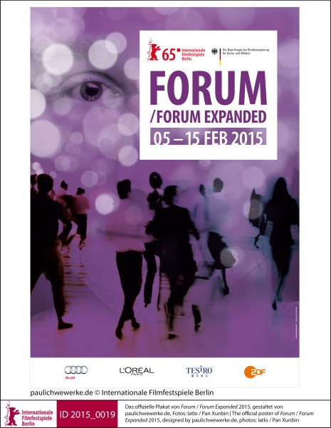 The poster of Forum / Forum Expanded 2015   Posters | Posters  The official poster of Forum / Forum Expanded 2015, designed by paulichwewerke.de, photos: Iatlo / Pan Xunbin  ID 2015_0019