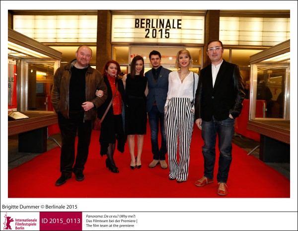 Film team   Panorama | Impressions  De ce eu? (Why me?): The film team at the premiere.  ID 2015_0113