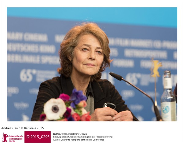 Charlotte Rampling   Competition |  45 Years   Actress Charlotte Rampling at the Press Conference.  ID 2015_0293