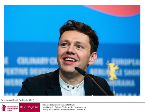 Christian Friedel   Competition |  Elser | 13 Minutes   Leading actor Christian Friedel at the Press Conference.  ID 2015_0370
