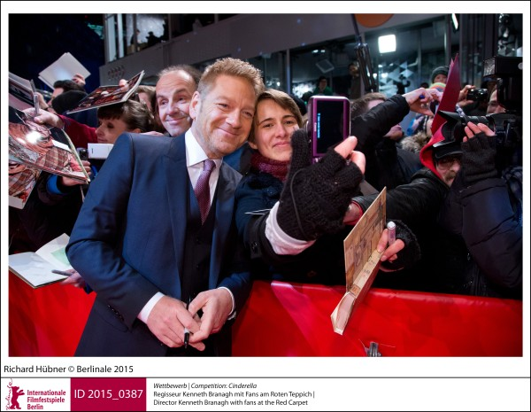 Kenneth Branagh   Competition |  Cinderella   Director Kenneth Branagh with fans at the Red Carpet.  ID 2015_0387