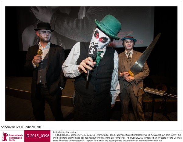 THE TIGER LILLIES   Retrospective & Homage | Berlinale Classics  Vartieté: THE TIGER LILLIES composed a new score for the German silent film classic by director E.A. Dupont from 1925 and accompanied the premiere of the restored version live.  ID 2015_0396