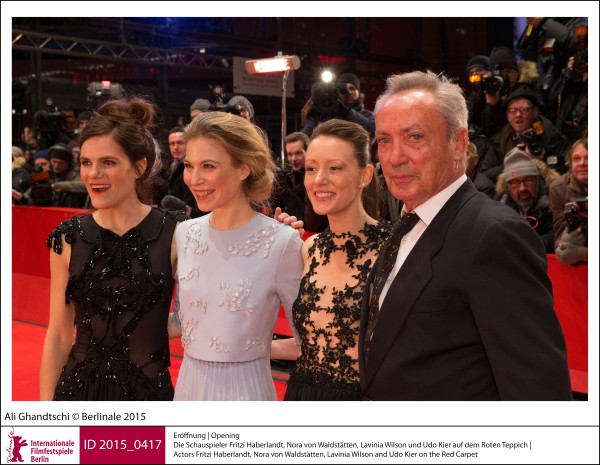 Fritzi Haberlandt, Nora von Waldstätten, Lavinia Wilson, Udo Kier   Galas, Receptions & Impressions | Opening  Actors Fritzi Haberlandt, Nora von Waldstätten, Lavinia Wilson and Udo Kier on the Red Carpet.  ID 2015_0417