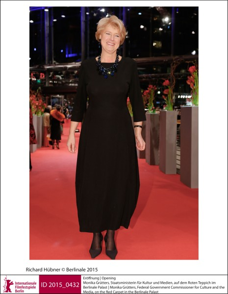 Monika Grütters   Galas, Receptions & Impressions | Opening  Monika Grütters, Federal Government Commissioner for Culture and the Media, on the Red Carpet in the Berlinale Palast.  ID 2015_0432
