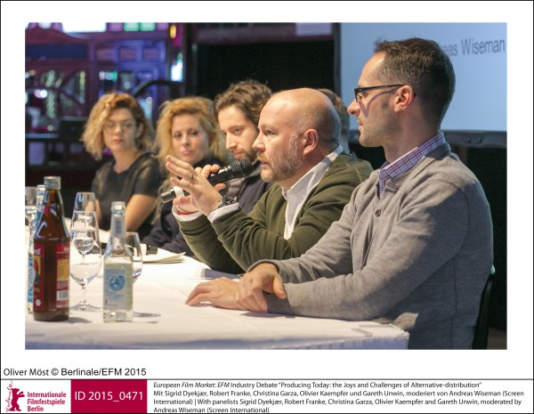 "EFM Industry Debate ""Producing Today: the Joys and Challenges of Alternative-distribution""   European Film Market 