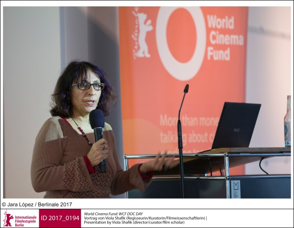 Viola Shafik   World Cinema Fund | Impressionen  WCF DOC DAY: Vortrag von Viola Shafik (Regisseurin / Kuratorin / Filmwissenschaftlerin).  ID 2017_0194