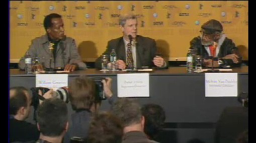 Press Conference    Monday Feb 09, 2004    Press Conference on the  Retrospective  2004: Peter Fonda (Director) Monte Hellman (Director) Melvin Van Peebles (Director) Peter Davis (Director) William Greaves (Director) Host: Robert Fischer