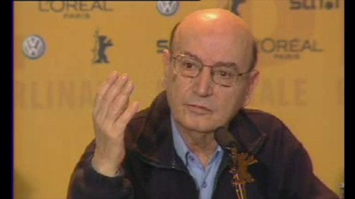 Press Conference    Thursday Feb 12, 2004    Theo Angelopoulos (Director) Alexandra Aidini (Actress) Thalia Argyriou (Actress) Nikos Poursanidis (Actor) Vassilis Kolovos (Actor) Andreas Sinanos (DOP) Eleni Karaindrou (Music) Host: Josef Schnelle