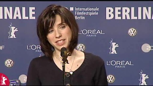 Pressekonferenz    Dienstag 12.02.2008    Simon Channing Williams (Produzent)   Sally Hawkins (Schauspielerin)   Mike Leigh (Regisseur)   Eddie Marsan (Schauspieler)   Stephen Locke (Moderation)