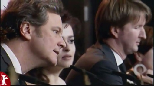 Press Conference    Wednesday Feb 16, 2011    Colin Firth (Actor)   Helena Bonham Carter (Actress)   Tom Hooper (Director)   Jenni Zylka (Moderation)