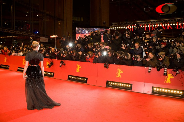 The Red Carpet before the world premiere of Les adieux à la Reine, which opened the 62nd Berlinale.