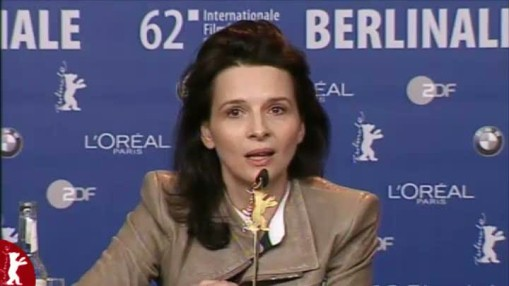 Press Conference    Friday Feb 10, 2012    Michal Englert (Director of Photography)   Tine Byrckel (Screenplay)   Marianne Slot (Producer)   Andrzej Chyra (Actor)   Juliette Binoche (Actress)   Joanna Kulig (Actress)   Malgoska Szumowska (Director)   Moderation: Andreas Struck
