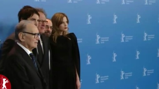 Press Conference    Tuesday Feb 12, 2013    Sylvia Hoeks (Actress) Jim Sturgess (Actor) Giuseppe Tornatore (Director, Screenwriter) Geoffrey Rush (Actor) Ennio Morricone (Composer) Vincenzo Bugno (Moderation)