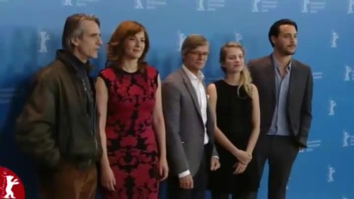 Press Conference    Wednesday Feb 13, 2013    Peter Reichenbach (Producer) Ana Costa (Co-Producer) Günther Russ (Producer) Mélanie Laurent (Actress) Jeremy Irons (Actor) Bille August (Director) Martina Gedeck (Actress) Jack Huston (Actor) Jenni Zylka (Moderation)