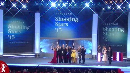 Gala    Monday Feb 09, 2015    The Shooting Stars 2015 are: Sven Schelker, Natalia de Molina, Aistė Diržiūtė, Joachim Fjelstrup, Emmi Parviainen, Moe Dunford, Abbey Hoes, Hera Hilmar, Maisie Williams, Jannis Niewöhner.  After the award ceremony Andreas Dresen's Film  Als wir träumten  premiered.    Gala at full length