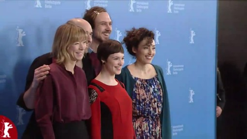 Press Conference    Thursday Feb 12, 2015    Samir (Producer), Urs Jucker (Actor), Lars Eidinger (Actorr), Jenny Schily (Actress), Victoria Schulz (Actress), Stina Werenfels (Director, Screenwriter) Moderation: Jenni Zylka