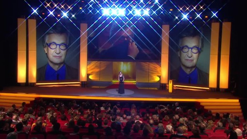 Berlinale 2015    Thursday Feb 12, 2015    A medley of impressions of the eighth Festival day.   Wim Wenders, Christian Friedel, Katharina Schüttler, Berlinale Camera for Marcel Ophüls, Sandra Schulberg, Honorary Golden Bear for Wim Wenders, Meret Becker, Walter Salles