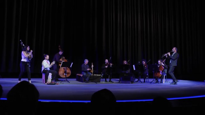 Since 2000, cellist Yo-Yo Ma has brought together musicians from all over the world with his Silk Road project. Video of the performance after the screening by part of The Silk Road Ensemble.