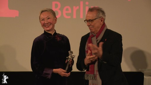 Award Ceremony    Friday Feb 10, 2017    Nansun Shi was awarded the Berlinale Camera, with the attendance of producer Fred Tsui and Festival Director Dieter Kosslick.