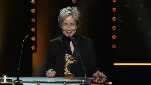 Gala    Thursday Feb 16, 2017    Presentation of the Honorary Golden Bear to Milena Canonero by Festival Director Dieter Kosslick in the Berlinale Palast. Jan Harlan held the laudatory speech in honour of the recipient.    Gala at full length