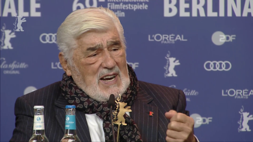 Press Conference    Tuesday Feb 12, 2019    Herbert Schwering (Producer), Dominik Wessely (Director, Screenwriter), Mario Adorf (Protagonist)   Moderation: Jenni Zylka