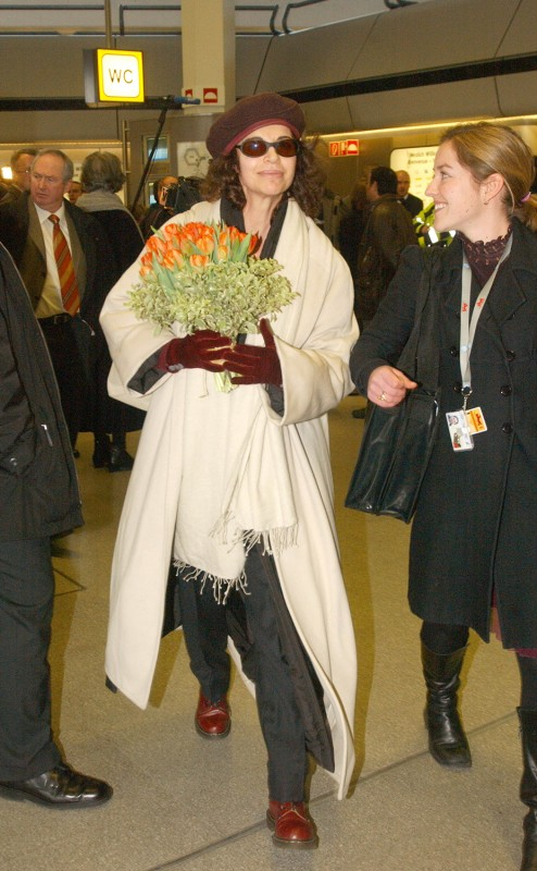 Anna Galiena   Actress Anna Galiena, member of the International Jury, at her arrival.    International Jury    Feb 5, 2003