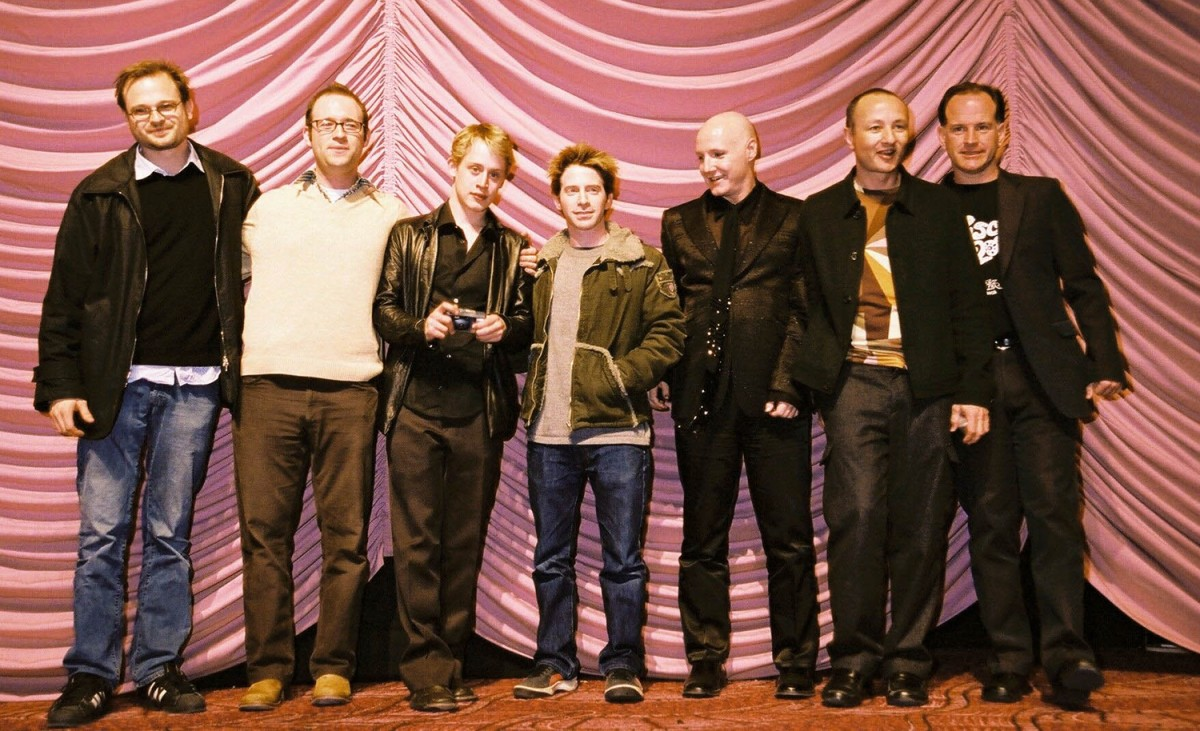 Brad Simpson, Jon Marcus, Macaulay Culkin, Seth Green, James St. James, Fenton Bailey, Randy Barbato   The  Party Monster s after the premiere screening at Zoo-Palast: Producers Brad Simpson and Jon Marcus, actors Macaulay Culkin and Seth Green, author James St. James, directors Fenton Bailey and Randy Barbato     Panorama  –   Party Monster      Feb 9, 2003
