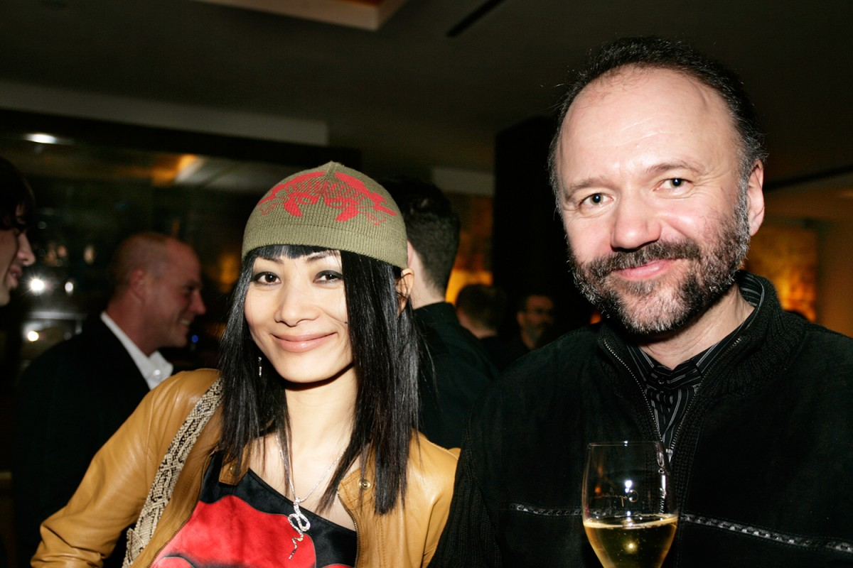 Bai Ling, Andrei Kurkov   Jury reception at Restaurant Margaux: Bai Ling and Andrei Kurkov look like they will get along as colleagues in the International Jury.    International Jury    Feb 9, 2005