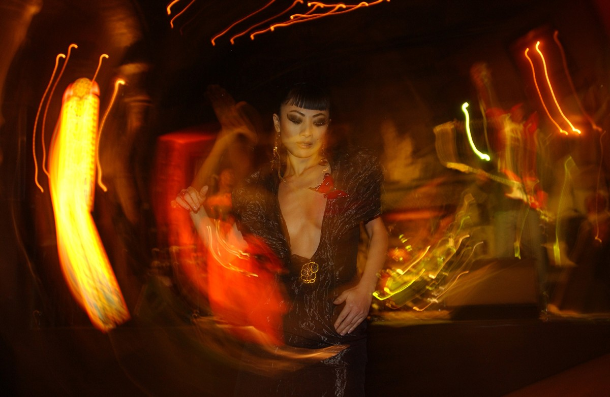 Bai Ling   This camera doesn't lie: Jury member Bai Ling rocking the opening party in the Adagio.    Opening Gala    Feb 10, 2005