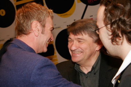 Feb 17, 2005Wieland Speck, Aleksandr Sokurov  Panorama head Wieland Speck having a conversation with Aleksandr Sokurov in the VIP Club. Competition – Solnze | The Sun | Die Sonne