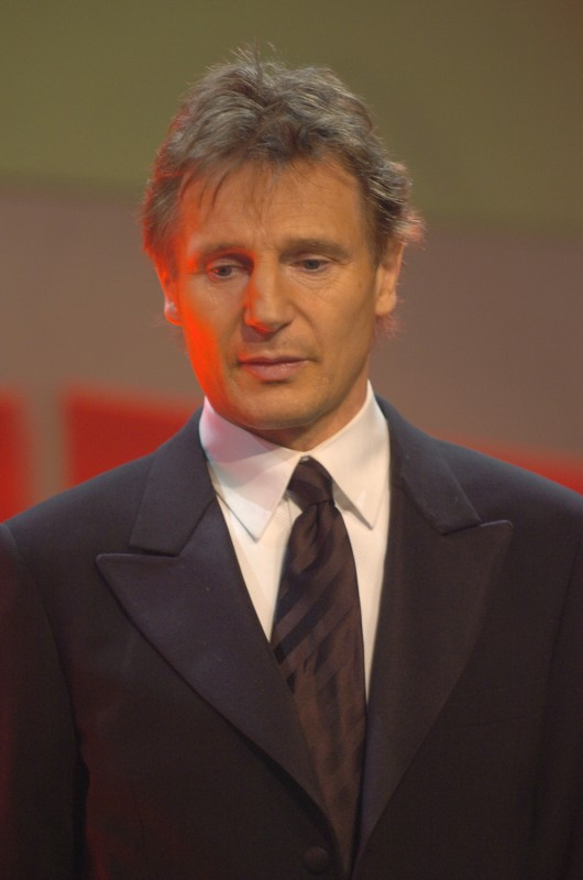 Liam Neeson   Liam Neeson, star of closing film  Kinsey , on stage during the award ceremony.     Competition  –   Kinsey      Feb 19, 2005
