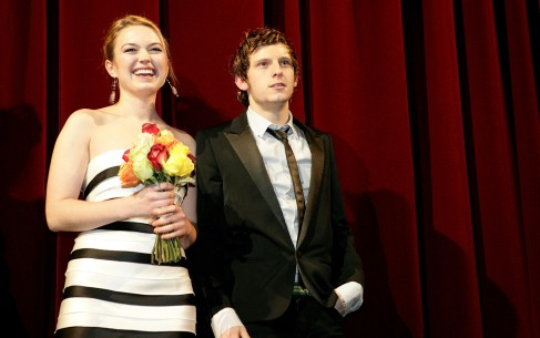 Feb 16, 2007Sophia Myles, Jamie Bell  Sophia Myles and Jamie Bell on the Berlinale Palast stage after the premiere screening of Hallam Foe. Competition – Hallam Foe – Berlinale Palast