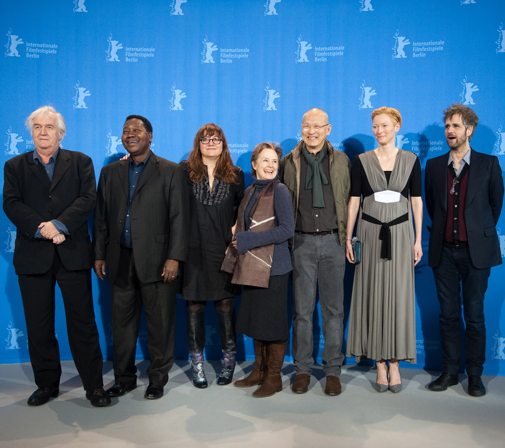 The International Jury   The International Jury during the Photo Call: Henning Mankell, Gaston Kaboré, Isabel Coixet, Alice Waters, Wayne Wang, Tilda Swinton and Christoph Schlingensief (from left to right).    International Jury    Feb 5, 2009