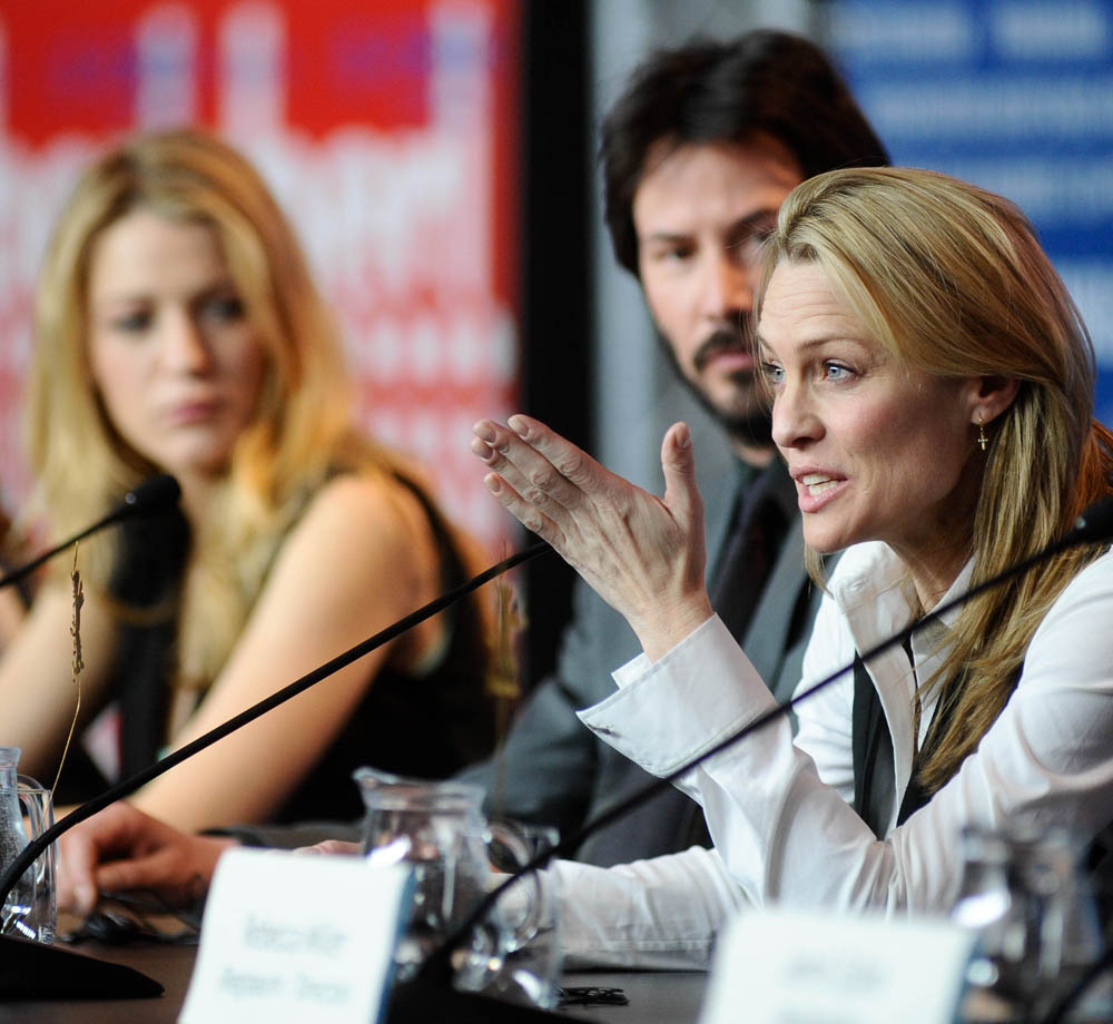 Blake Lively, Keanu Reeves, Robin Wright Penn   All attention on Robin Wright Penn at the press conference.     Competition  –   The Private Lives Of Pippa Lee   – Programme Press Conference    Feb 9, 2009
