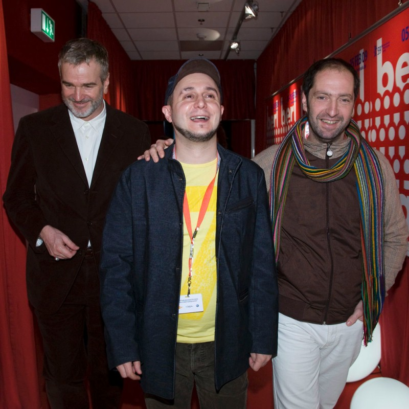 Wieland Speck, Roberto Castón, Josean Bengoetxea   Section head Wieland Speck with  Ander  director Roberto Castón and leading actor Josean Bengoetxea.     Panorama  –   Ander      Feb 11, 2009