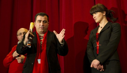 Feb 13, 2011Luli Bitri, Bujar Alimani   The main actor and the director during Q+A. Forum – Amnistia | Amnesty – Berlinale Goes Kiez