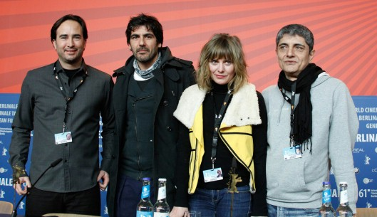 Feb 15, 2011George Lykiardopoulos, Antonis Karystinos, Theodora Tzimou, Constantine Giannaris   The producer, the actors and the director at the Press Conference. Panorama – Man At Sea