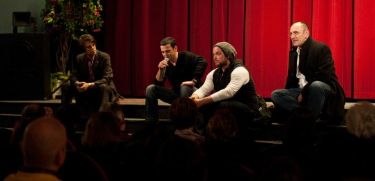 Feb 12, 2012Matthias Elwardt, Christian Petzold, Ronald Zehrfeld, Hans Fromm  The moderator, the director, the actor and the cinematographer during Q&A. Berlinale Goes Kiez – Barbara