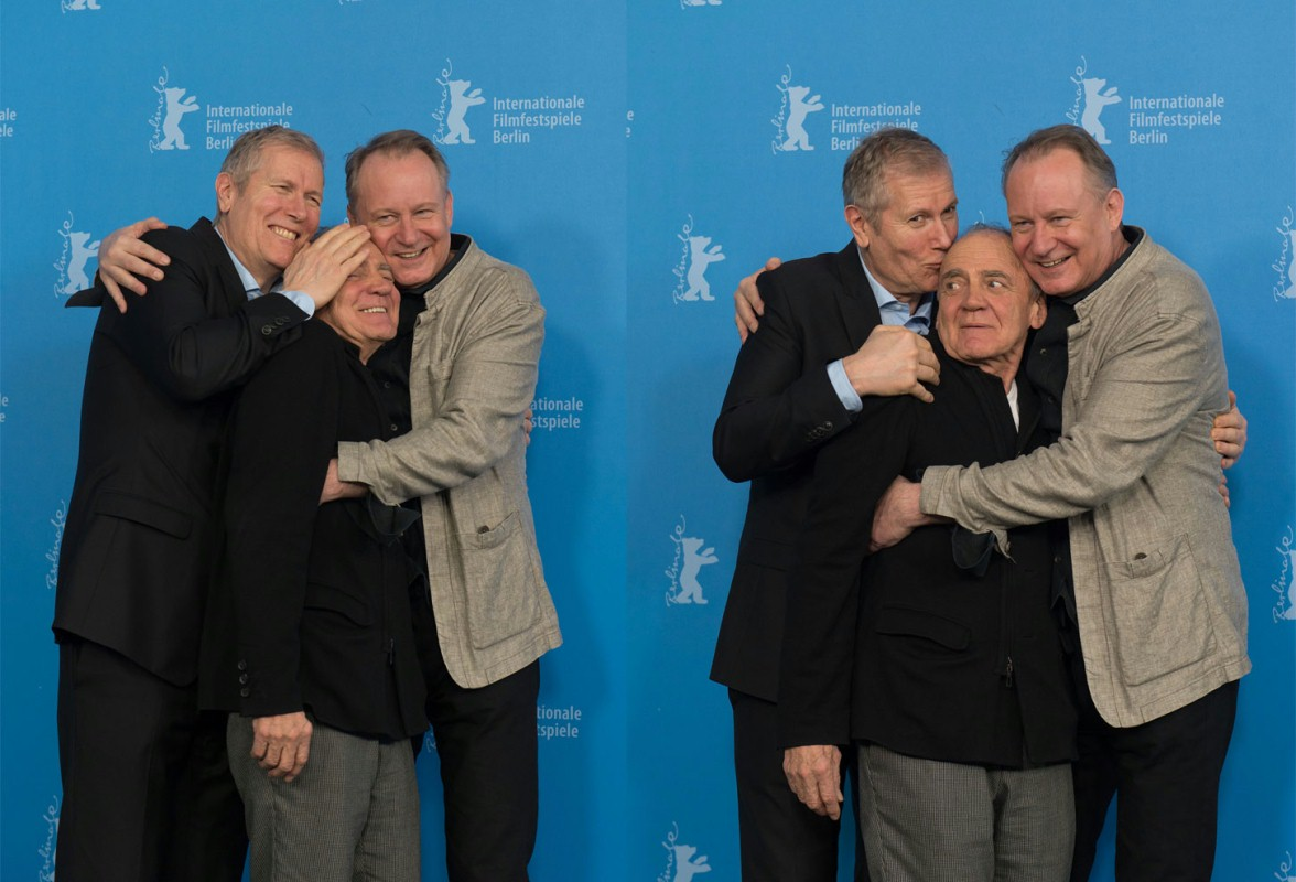 Hans Petter Moland, Bruno Ganz, Stellan Skarsgård   The film team of the gruesome black comedy at the Photo Call.     Competition  –   Kraftidioten  | In Order of Disappearance     Feb 10, 2014