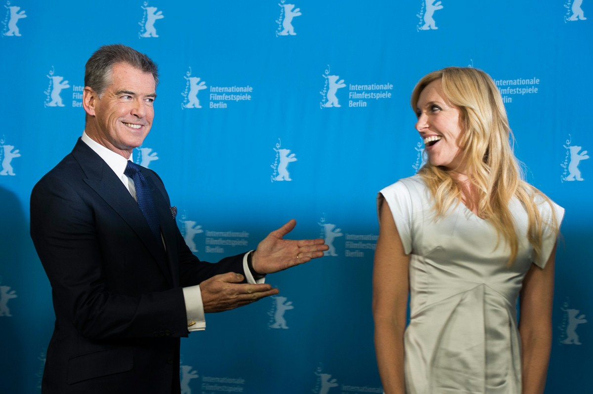 Pierce Brosnan, Toni Collette   The two actors at the Photo Call.     Berlinale Special  –   A Long Way Down      Feb 10, 2014