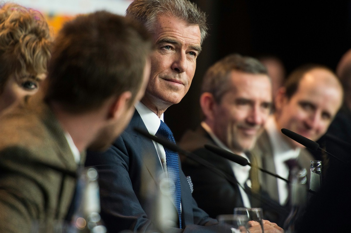 Pierce Brosnan   The Irish actor at the Press Conference.     Berlinale Special  –   A Long Way Down      Feb 10, 2014