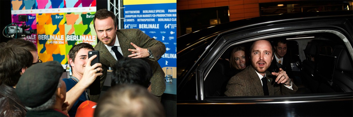 Aaron Paul   In action!     Berlinale Special  –   A Long Way Down      Feb 10, 2014