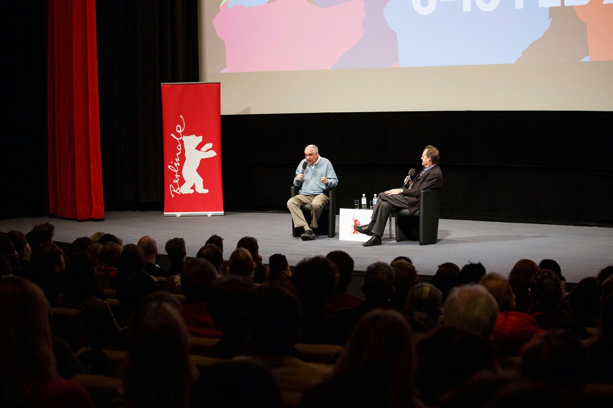 Errol Morris, Peter Schneider   Author Peter Schneider presented the post-screening discussion with the director.     Berlinale Special  –   The Unknown Known      Feb 13, 2014
